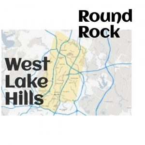 dog walking service map of west lake hills and round rock texas
